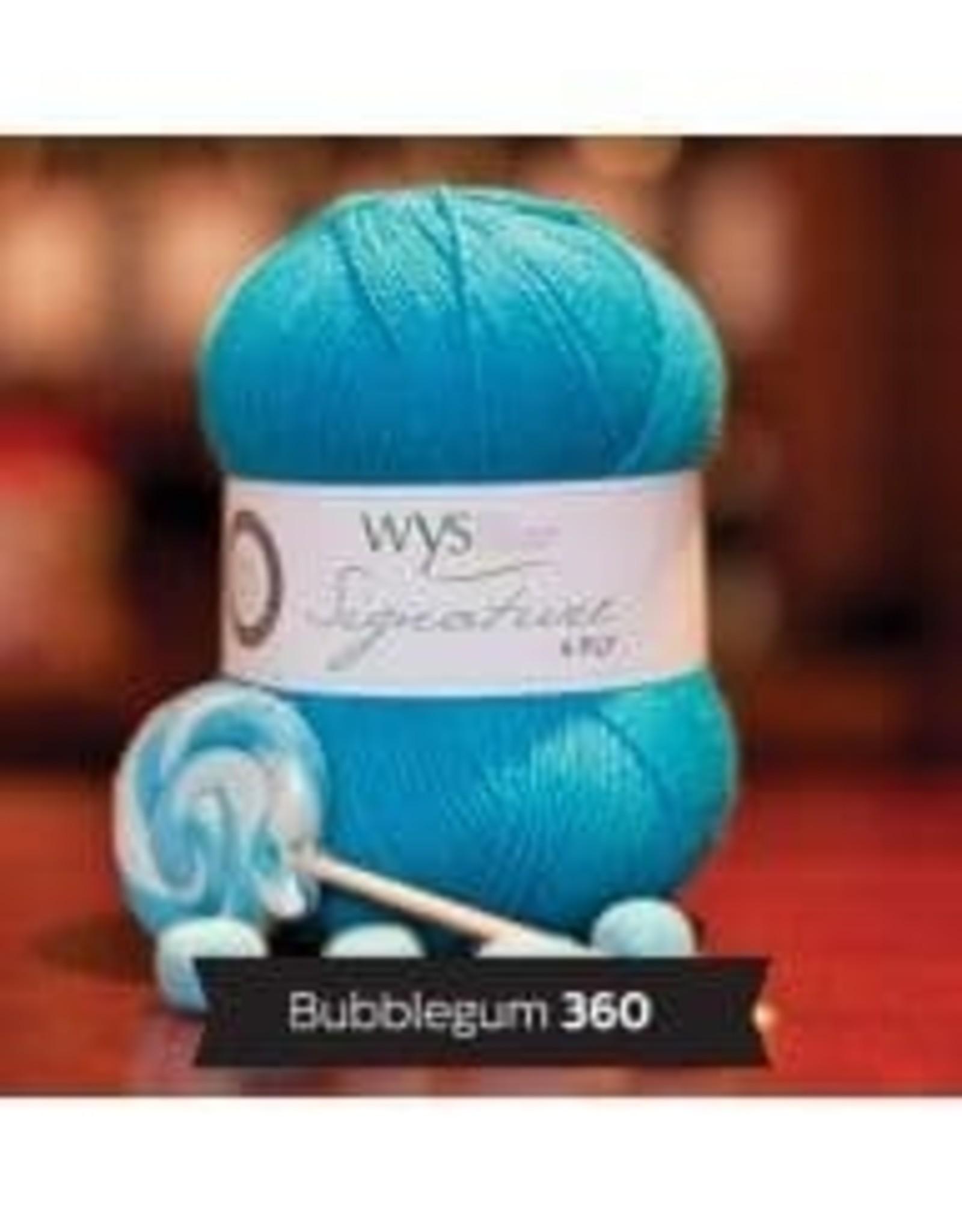 WYS WYS Signature 4 Ply Solids - Bubblegum 360