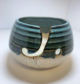 Yarn Bowls by Coastal Clay - Blue Glaze