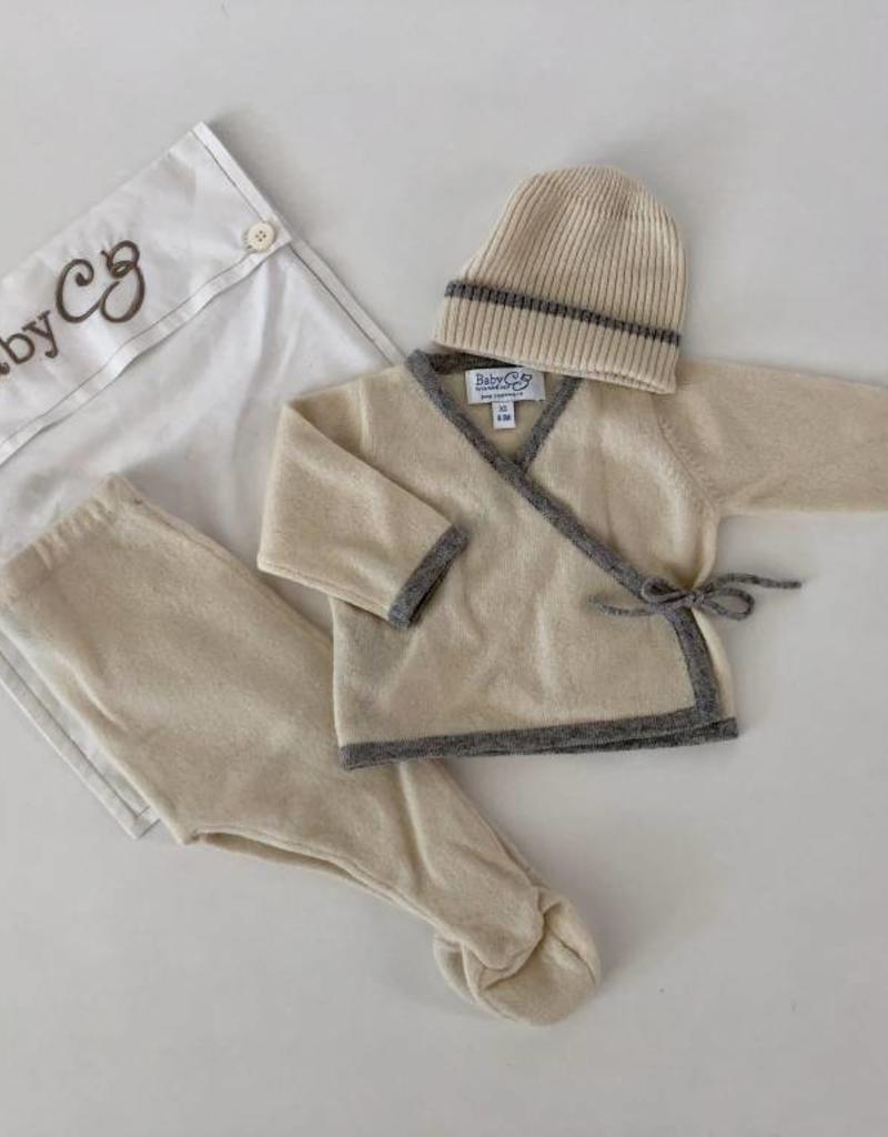 Baby CZ Baby CZ Cashmere Kimono Wrap Layette Set