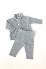 Baby CZ Baby CZ Popcorn Stitch Sweater and Leggings Set