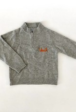 Baby CZ Baby CZ Cashmere 1/2 Zip Sweater Silver Vail