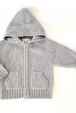 Baby CZ Baby CZ Cashmere Hand-knit Chunky Cable Hoodie