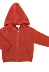 Baby CZ Baby CZ Cashmere Hoodie w/ Zipper Orange