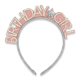 "Henny and Coco Henny and Coco ""Birthday Girl"" Silver Headband"