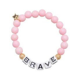 """Henny and Coco Henny and Coco """"Brave"""" Bracelet - Light Pink"""