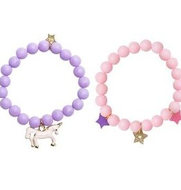 Henny and Coco Henny and Coco Ella Bracelets - Purple and Pink