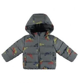 Stella McCartney Stella Hubert Baby Boy Cars Grey Printed Puffer Jacket