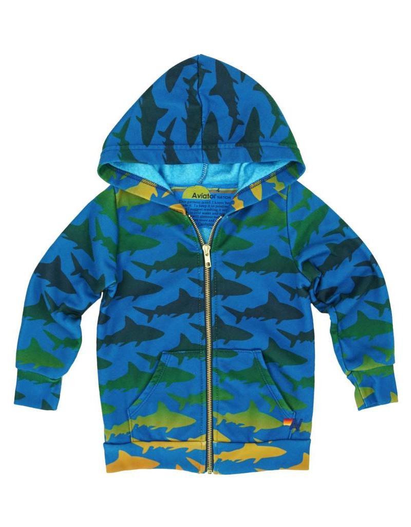Aviator Nation Aviator Nation Kid's Shark Hoodie
