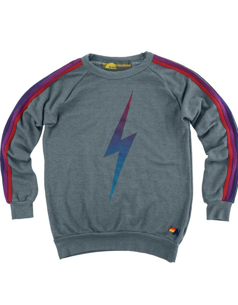Aviator Nation Aviator Nation Faded Bolt Crewneck Sweatshirt