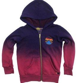Aviator Nation Aviator Nation Faded All Seasons Embroidery Zip Hoodie Rose/Purple
