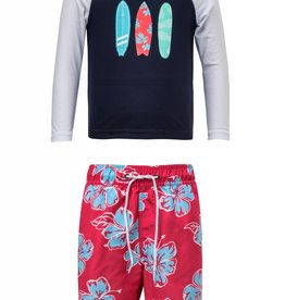 Snapperrock Snapper Rock Hibiscus Surfboard LS Baby Set