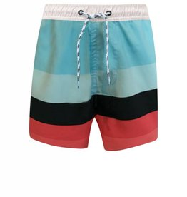 Snapperrock Snapper Rock Red/Aqua/Navy Surf Stripe Boardies