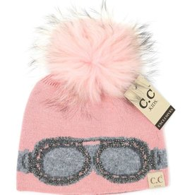 CC Beanie CC Beanie Kids Google Fur Pom Beanie