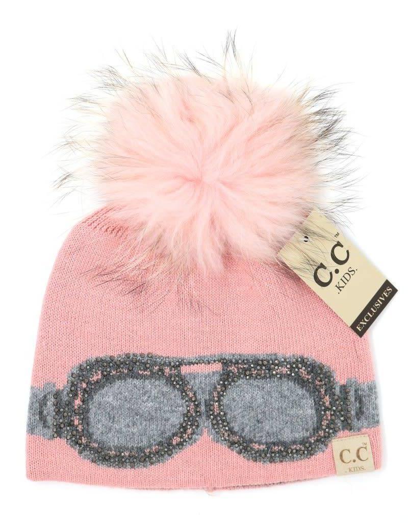 CC Beanie Kids Google Fur Pom Beanie - Skipper   Scout 113718c4b3cc