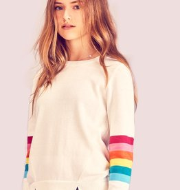 me.n.u Me.n.u Rainbow Sleeve Sweater