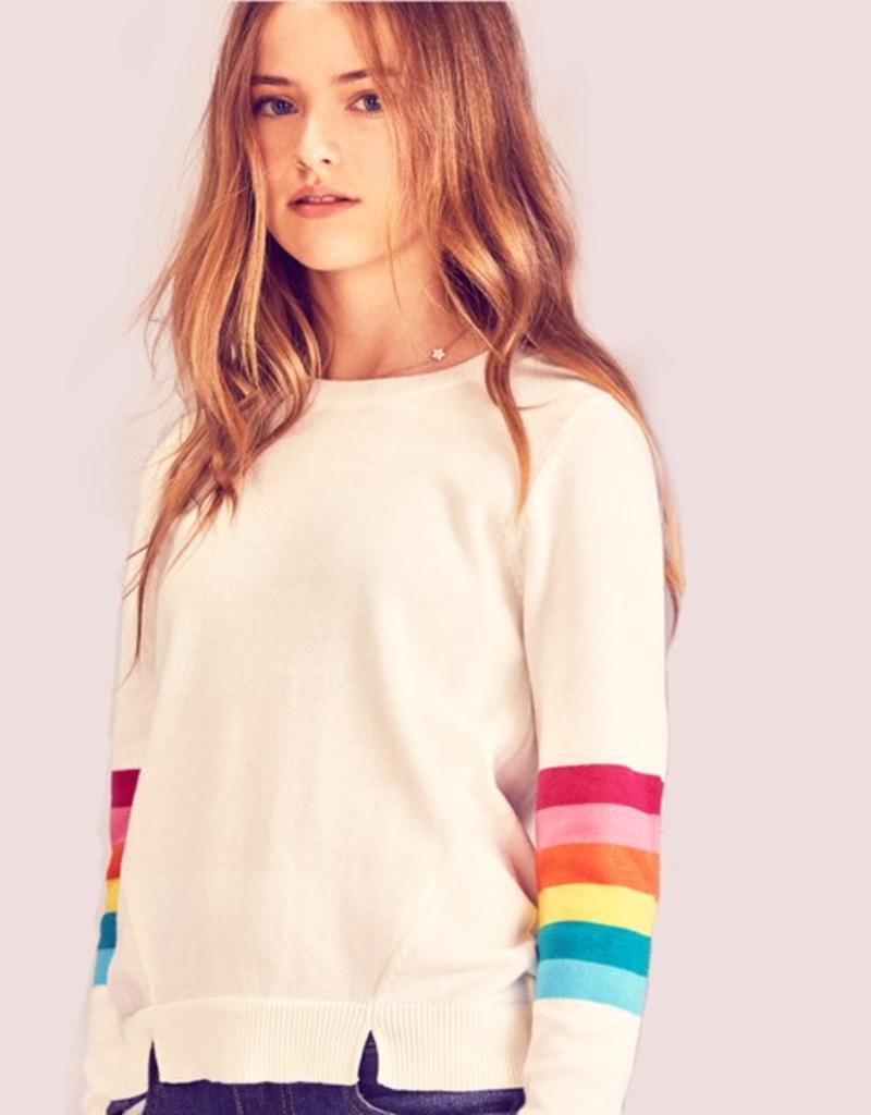 me.n.u Me.n.u Rainbow Sleeve Sweater