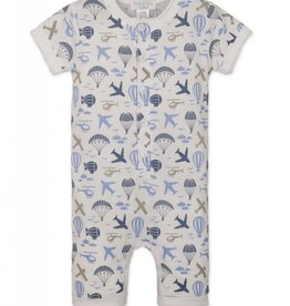 Feather Baby Feather Baby Boy's Henley Romper
