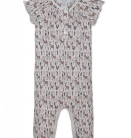 Feather Baby Feather Baby Girls Ruched Romper