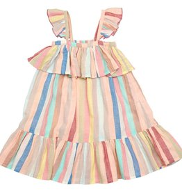 Pink Chicken Pink Chicken Amalia Dress - Multi Vintage Stripe