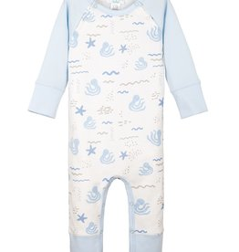 Feather Baby Feather Baby L/S Boy's Sailor Sleeve Romper