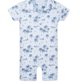 Feather Baby Feather Baby Boy's Collared Romper