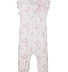 Feather Baby Feather Baby Girl's Bow Romper