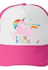 Bubu Bubu Trucker Hat: Flippin' Magical Unicorn