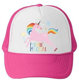 Bubu Bubu Trucker Hat: Flippin' Magical Unicorn