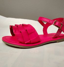 Billieblush Billieblush Ruffle & Glitter Leather Sandals