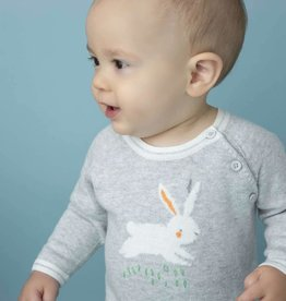 Angel Dear Angel Dear Bunny Intarsia Knit Coverall