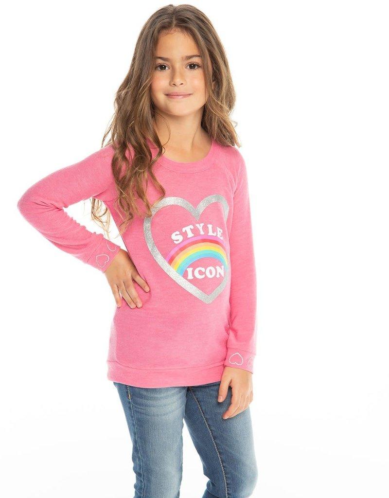 Chaser Chaser Girls Style Icon Raglan Pullover