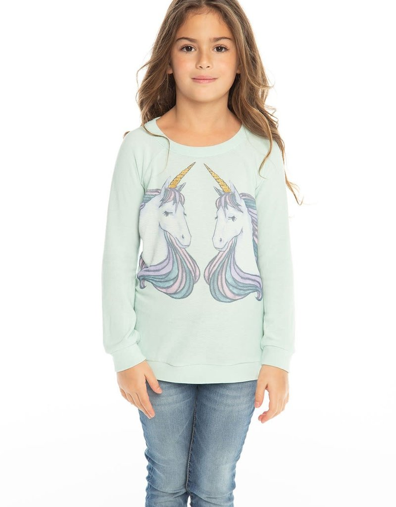 Chaser Chaser Girls Unicorn Dreams Raglan Pullover