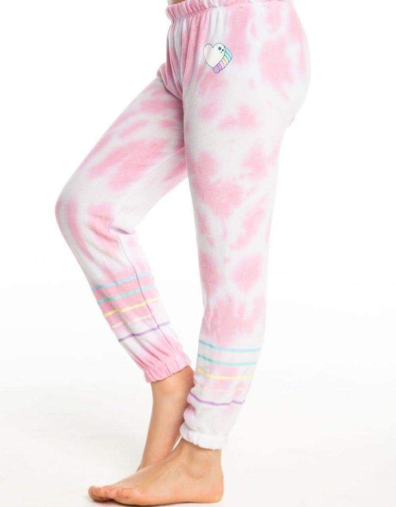 Chaser Chaser Girls Tie Dye Heart Sweatpant