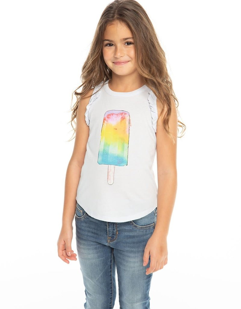 Chaser Chaser Girls Rainbow Popsicle Muscle Tee