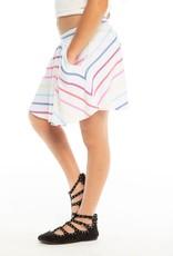 Chaser Chaser Girls Rainbow Stripe Flouncy Skort w/ Pockets