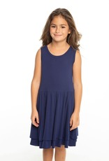 Chaser Chaser Girls Baby Rib Tiered Tank Dress
