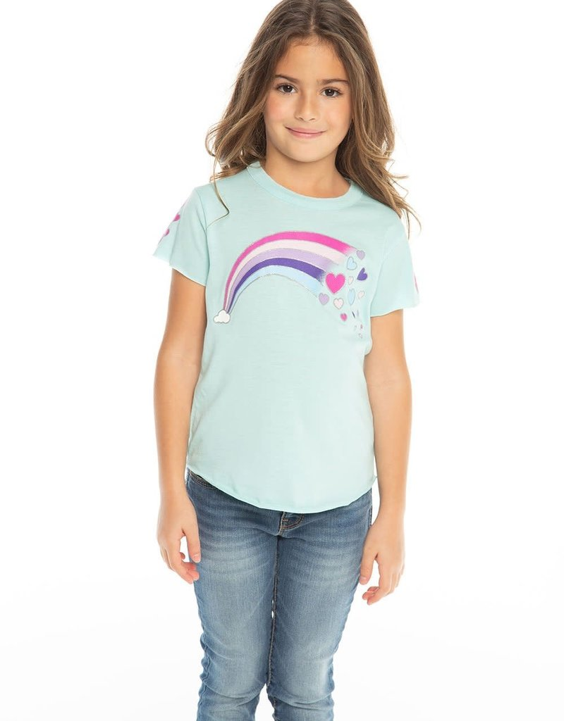 Chaser Chaser Rainbow Hearts Tee