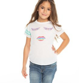 Chaser Chaser Girls Rainbow Lashes Tee