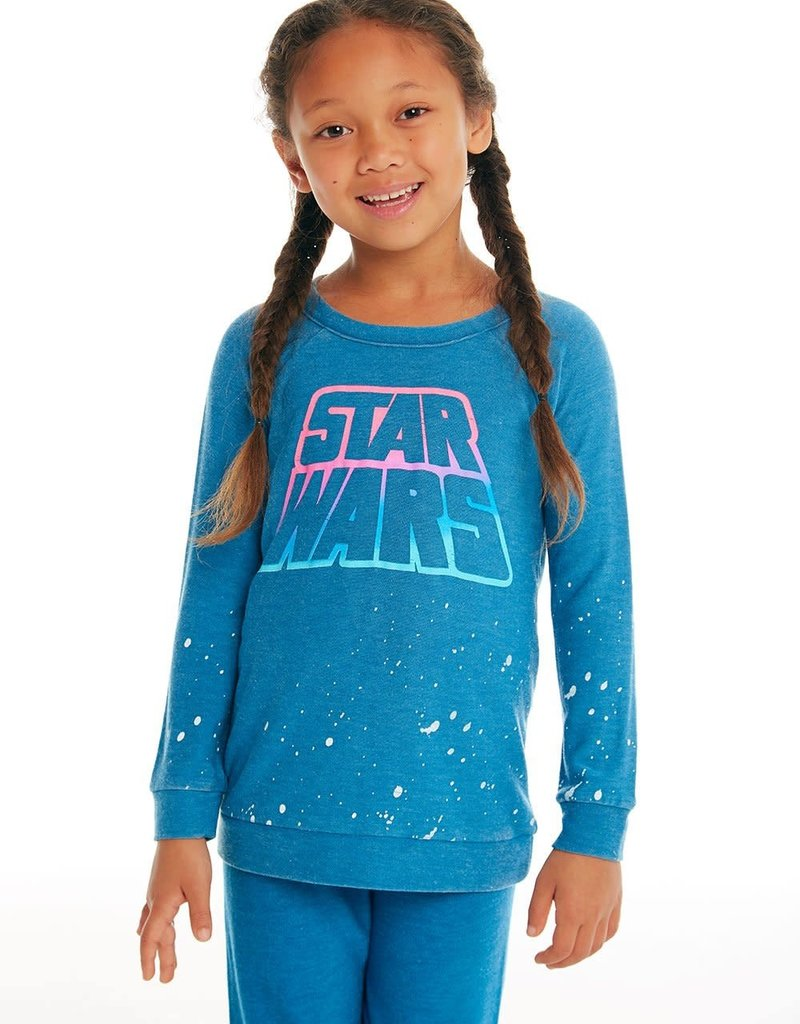 Chaser Chaser Girls Cozy Raglan Star Wars Pullover