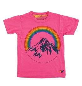 Aviator Nation Aviator Nation Kid's Mountain Rainbow Crew Tee