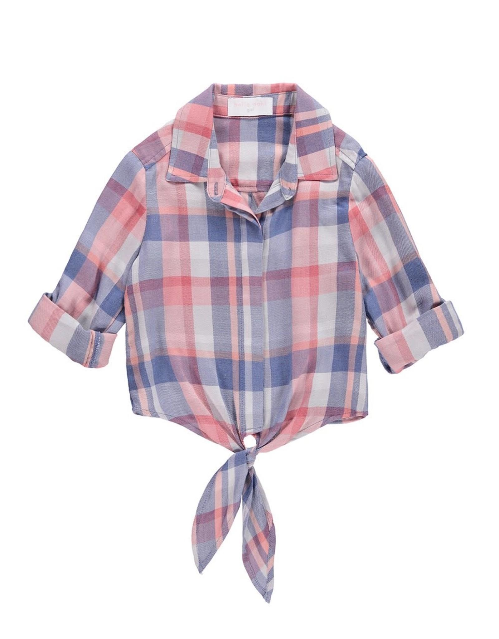 Bella Dahl Bella Dahl Tie Front Shirt w Roll Sleeve