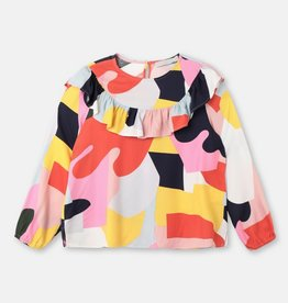 Stella McCartney Stella McCartney Girls Colorblock LS Blouse w Frills