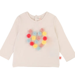 Billieblush Billieblush LS Heart Detail Graphic Tee