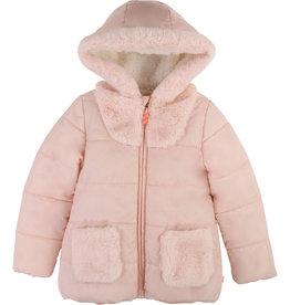 Billieblush Billieblush Hooded Puffer Jacket Glittery Sherpa