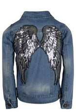 Lola & The Boys Lola and the Boys Angel Wing Denim Jacket