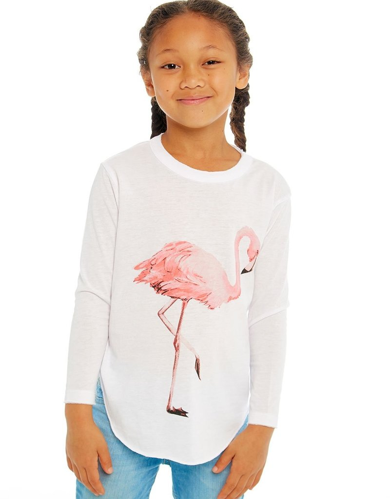 Chaser Chaser Girls LS Flamingo Tee
