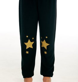 Chaser Chaser Girls Cozy Knit Gold Star Lounge Pants
