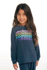 Chaser Chaser Girls Cozy Knit Weekends Raglan Pullover