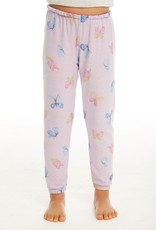 Chaser Chaser Girls Cozy Knit Butterfly Print Lounge Pants
