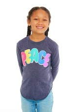 Chaser Chaser Girls LS Rainbow Peace Tee